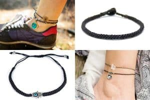 15 Black Thread Anklets That Will Look Great on You!