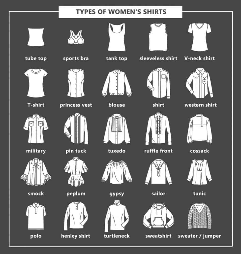 Types of women's shirts