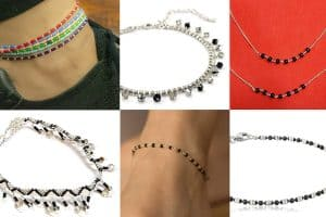 9 Silver Anklets with Black Beads That Will Turn Heads