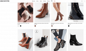 Urban outfitters page for leather boots