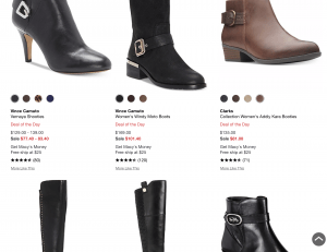 Macy's page for leather boots