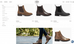 Thursday boot company page for leather boots