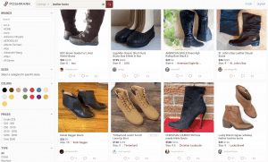 Poshmark page for leather boots
