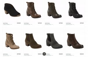 Earth shoes page for leather boots