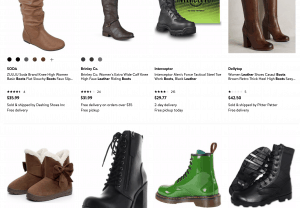 Walmart page for leather boots