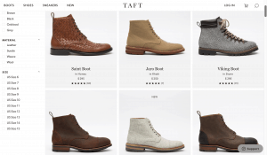 Taft page for leather boots