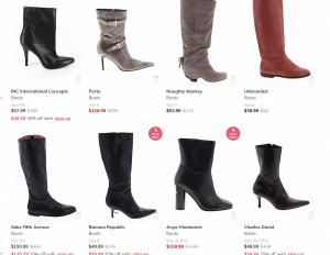 ThredUp page for leather boots