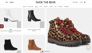 Shoe the bear page for leather boots
