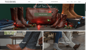 Tecovas page for leather boots