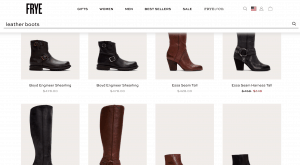 Frye page for leather boots