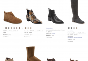 Nordstrom page for leather boots