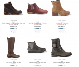 REI Co-op page for leather boots