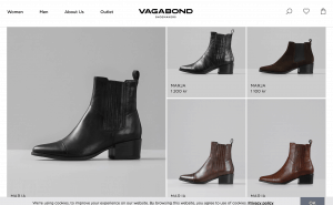 Vagabond page for leather boots