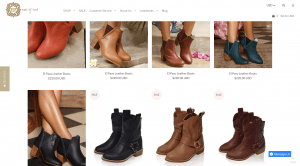 BaliELF page for leather boots