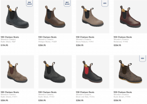 Blundstone page for leather boots