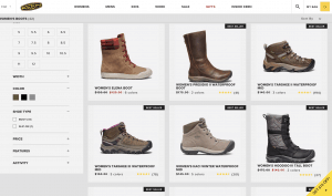 KEEN page for leather boots