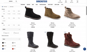Birkenstock page for leather boots