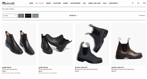 Madewell page for leather boots