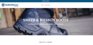Smith and Wesson Footwear page for combat boots