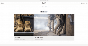 Danner page for combat boots