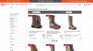 Sportman's Guide page for combat boots