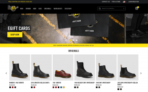 Dr. Martens page for combat boots