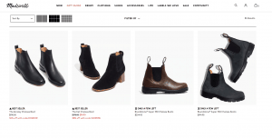 Madewell page for combat boots