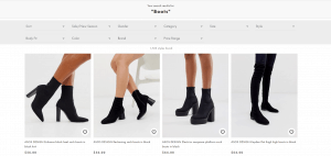 Asos design page for combat boots