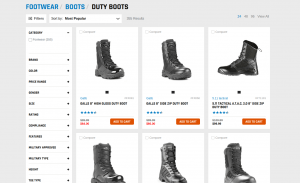 Galls page for combat boots