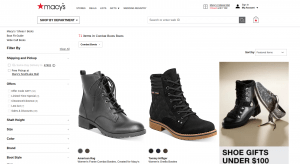 Macy's page for combat boots