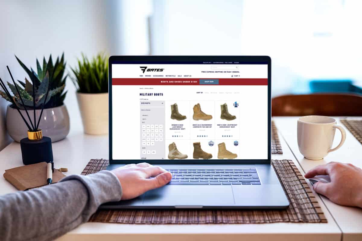 Man browsing for combat boots online, Where-To-Buy-Combat-Boots-Top-30-Online-Stores