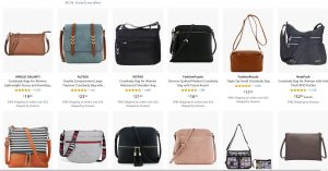 Amazon page for crossbody bags