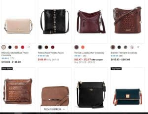 Belk page for crossbody bags