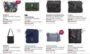 Burlington page for crossbody bags