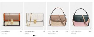 Coach page for crossbody bags