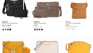 Designer Shoe Warehouse page for crossbody bags