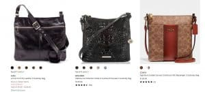 Dillards page for crossbody bags