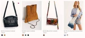 Free People page for crossbody bags