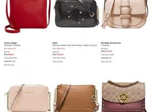 Macy's page for crossbody bags