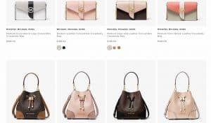 Michael Kors page for crossbody bags