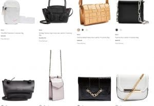 Nordstrom page for crossbody bags