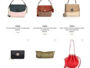 Saks Fifth Avenue page for crossbody bags