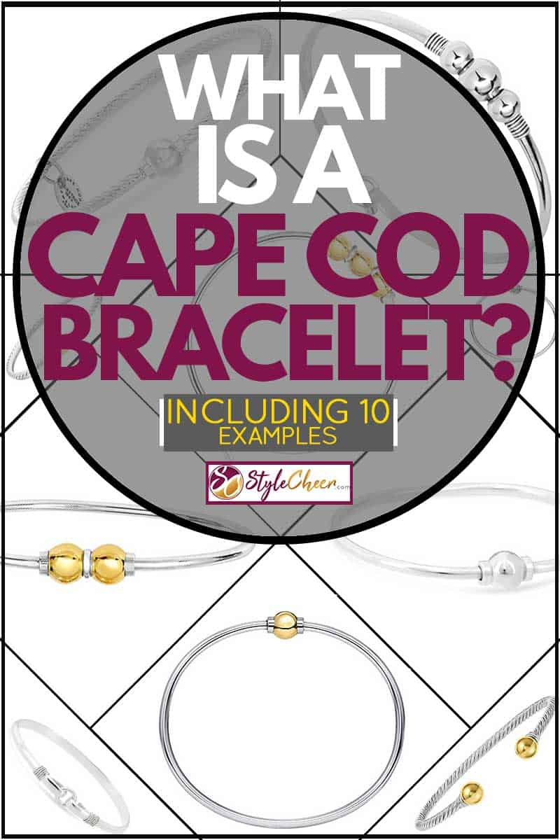 Cape Cod bracelet products with golden and silver beads