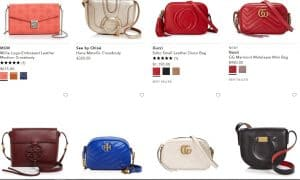 Bloomingdale's page for crossbody bags