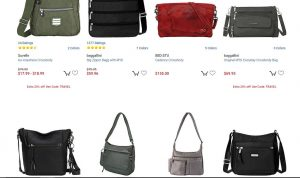 eBags page for crossbody bags