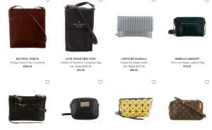 The RealReal page for crossbody bags