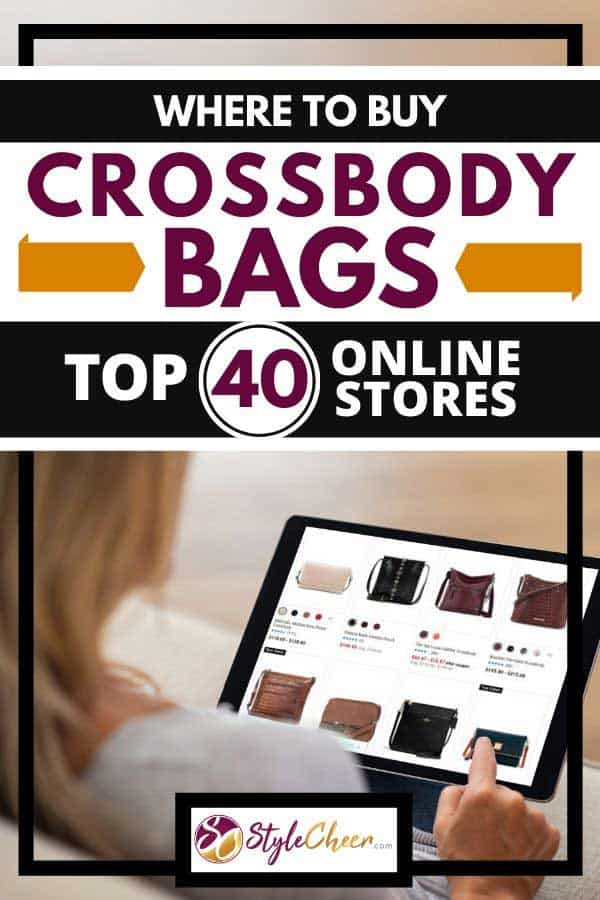 Woman using tablet to shop bags online