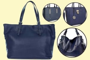 How To Wear a Navy Blue Handbag?