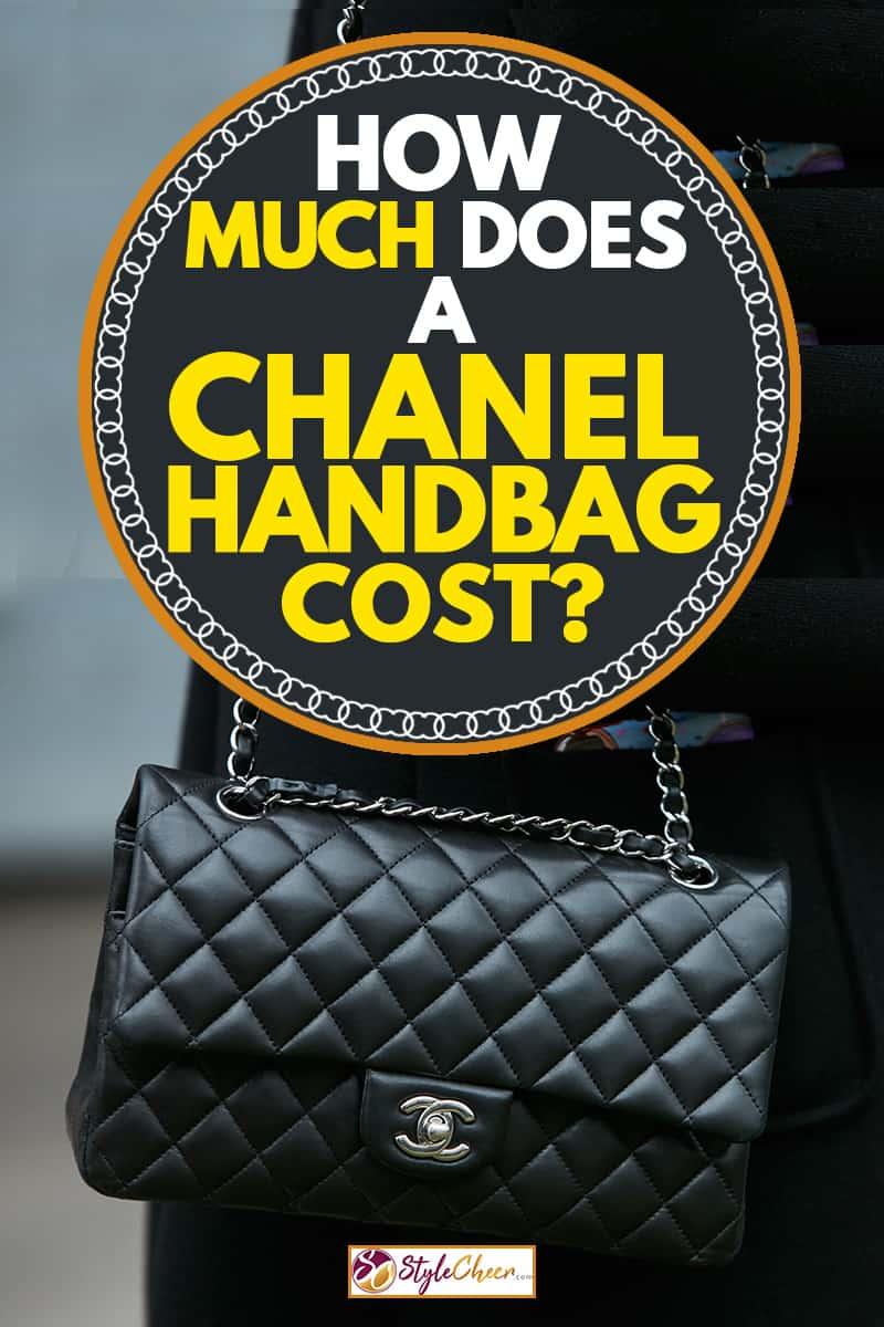 A woman walking on the streets on Milan while wearing her Chanel CC bag, How Much Does A Chanel Handbag Cost?
