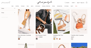 Free people website product page for handbags